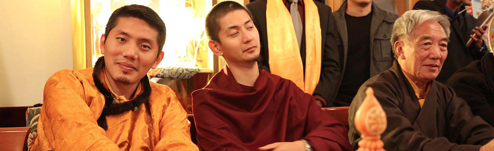 Trijang Chocktrul Rinpoche (left) and Rabgya Rinpoche.