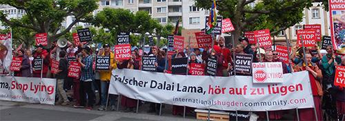 Dalai Lama / Shugden Proteste Frankfurt