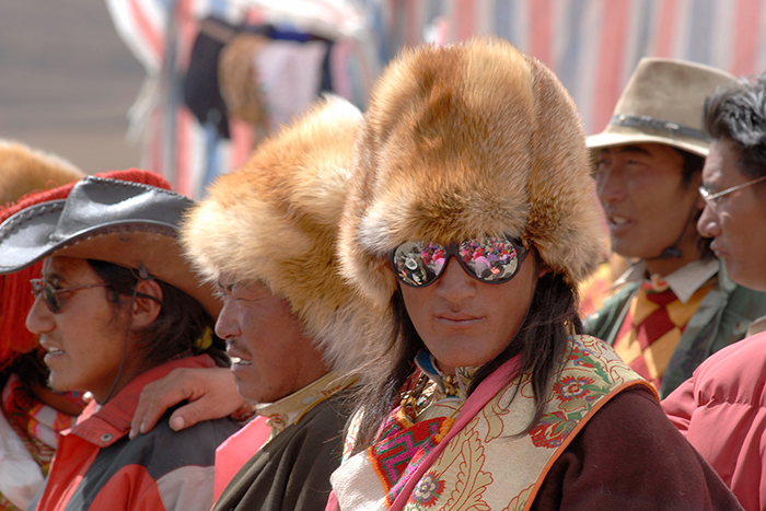 Tibet 2007: Nomad with fox hat.