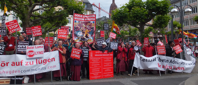 International Shugden Community (ISC) against the Dalai Lama, Frankfurt Main / Germany, 2014