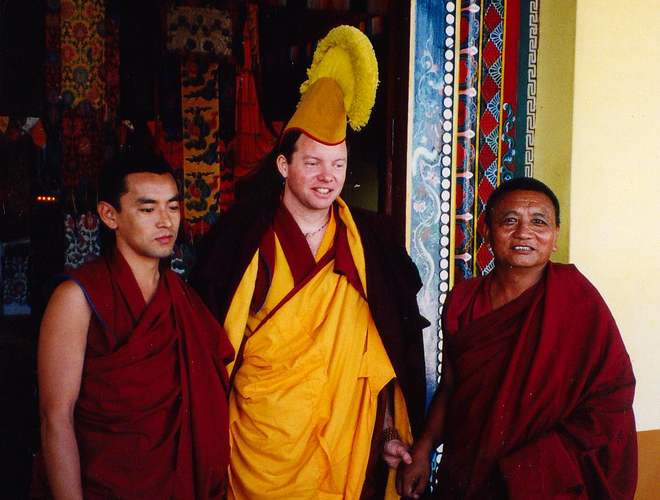 Michael Roach was awarded the geshe's cap