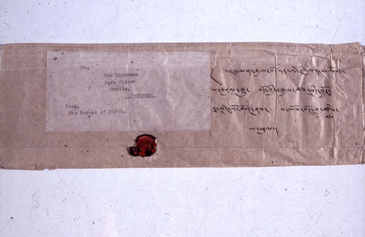 Envelope of Reting's letter to Hitler, 16 March 1939