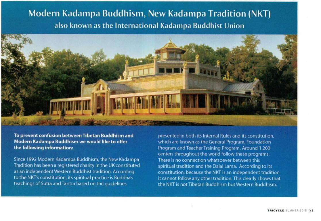 Modern Kadampa Buddhism Ad