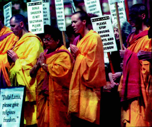 Anti Dalai Lama protests
