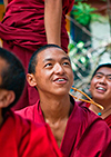 Buddhist monk debating