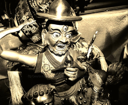 Traditional statue of Dorje Shugden