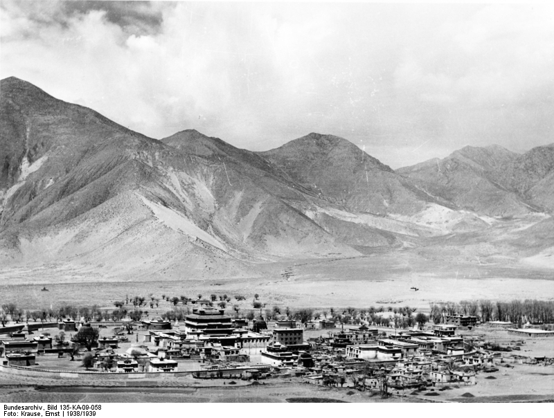 Plate 07: Samye Monastery, viewed from above.