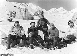 Zemu Region. The Five Members of the Expedition.