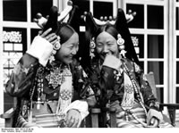 Lhasa, Mrs. Ringang and her daughter.